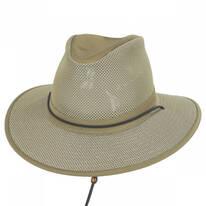 Packable Mesh Aussie Fedora Hat