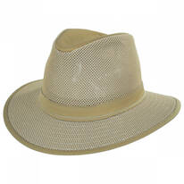 Packable Mesh Safari Fedora Hat