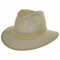 Packable Mesh Safari Fedora Hat