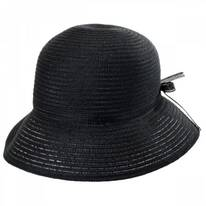 Mae Rollable Straw Cloche Hat