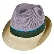 Tre Colore Hemp Straw Fedora Hat