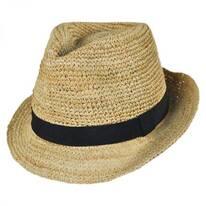 Recife Raffia Straw Fedora Hat