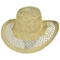 Lechuza Raffia Straw Floppy Hat