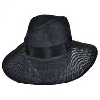 Bel Air Hemp Straw Fedora Hat