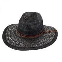 Prescott Toyo Straw Wide Brim Fedora Hat