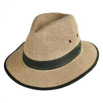 Hemp Linen Safari Fedora Hat