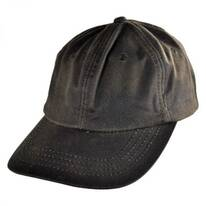 Oilskin Cotton Lo Pro Strapback Baseball Cap Dad Hat