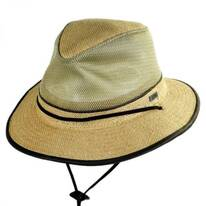 Mesh Crown Hemp Straw Safari Fedora Hat