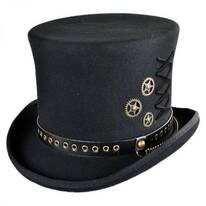 Steampunk Wool Felt Top Hat