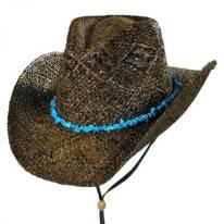 Cascade Mountain Raffia Straw Western Hat