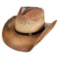 Route 66 Raffia Straw Cowboy Hat