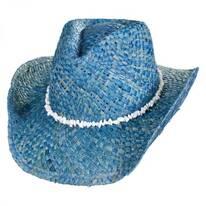 Bronco Beach Raffia Straw Western Hat