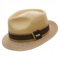 Madeira Beach Straw Fedora Hat
