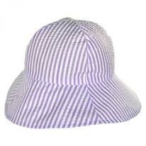 Baby Seersucker Cotton Bucket Hat