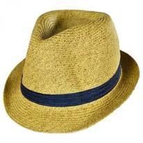 Kids' Contrasting Band Toyo Straw Fedora Hat