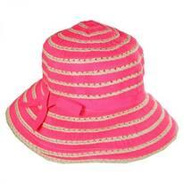 Kids' Ribbon Toyo Straw Bucket Hat