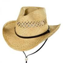 Kids' Chincord Raffia Straw Cowboy Hat