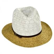 Cotton Lace Crown Toyo Straw Fedora Hat