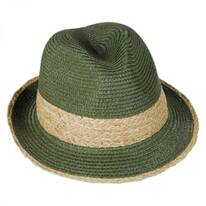 Raffia Band Toyo Straw Fedora Hat