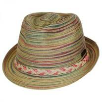 Multi Color Straw Fedora Hat