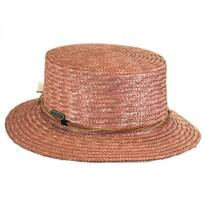 Tribal Trim Straw Boater Hat