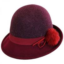 Pom Wool Felt Cloche Hat