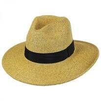 Wide Brim Toyo Straw Fedora Hat