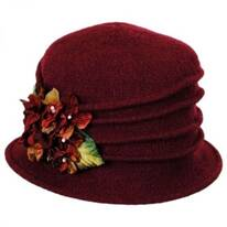 Autumn Wool Felt Cloche Hat