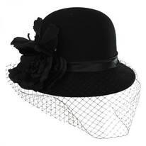 'Cashmere' Veil Cloche Hat