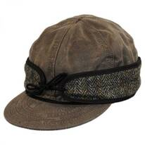 Wax Cotton Harris Tweed Cap