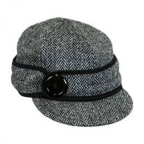 Harris Tweed Wool Button Up Cap