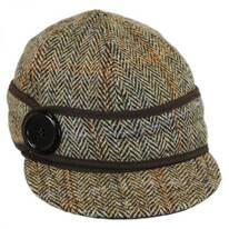 Harris Tweed Wool Button Up Cap