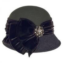 Vintage Two-Tone Wool Felt Cloche Hat