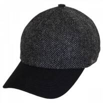Herringbone Wool Earflap Baseball Cap