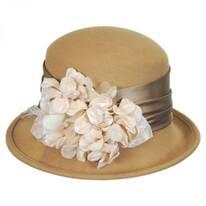 Petal Profile Wool Felt Cloche Hat