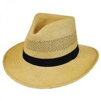 Vented Panama Straw Fedora Hat