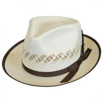 Viceroy Vent Shantung Straw Fedora Hat