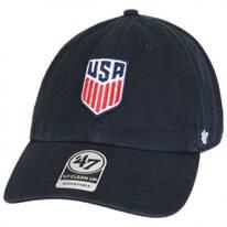 US Soccer Clean Up Strapback Baseball Cap Dad Hat