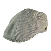 Redford Pinstripe Cotton Duckbill Ivy Cap
