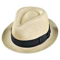 Havana Panama Straw Fedora Hat