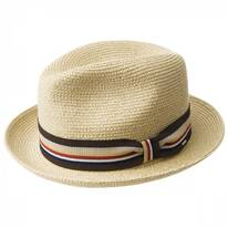 Salem Braided Toyo Straw Fedora Hat