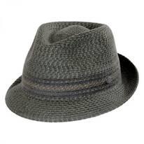 Vito Toyo Straw Braid Trilby Fedora Hat