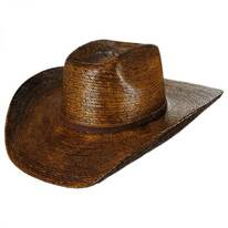 Fender Palm Straw Cattleman Western Hat