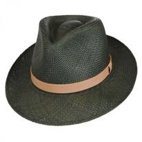 Gelhorn Panama Straw Tear Drop Fedora Hat