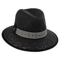 Jacquard Band Toyo Straw Fedora Hat
