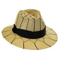 Open Weave Panama Straw Fedora Hat