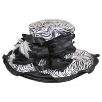 Sauvage Satin Boater Hat