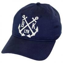 Montauk Leather Strapback Baseball Cap Dad Hat