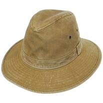 Packable Cotton Safari Fedora Hat