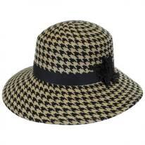 Houndstooth Wool Felt Breton Hat